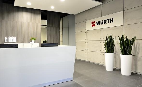 projektowanie wnętrz biurowych- recepcja- strefa wejściowa