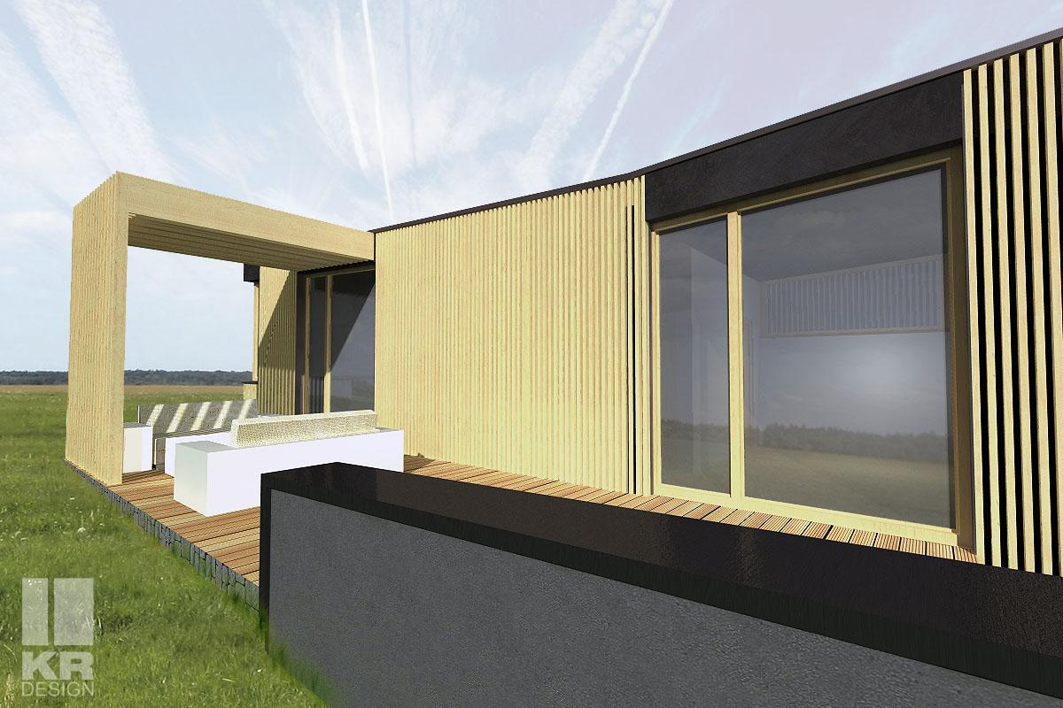 dom letniskowy, projekt indywidualny, projekt architektoniczno-budowlany, projekt konstrukcyjny, konstrukcja drewniana, mały dom, eko dom, dobry projekt, architekt