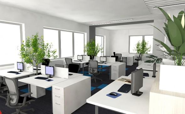 projektowanie wnetrz biurowych warszawa, wystrój, estetyka, nowoczesne wykładziny biurowe, projekt biura, open space warszawa