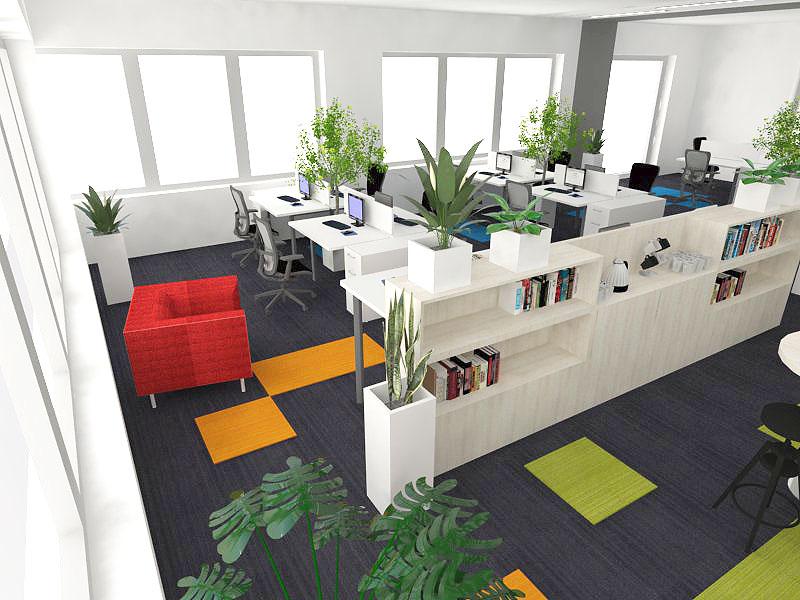 zielone oazy w biurach