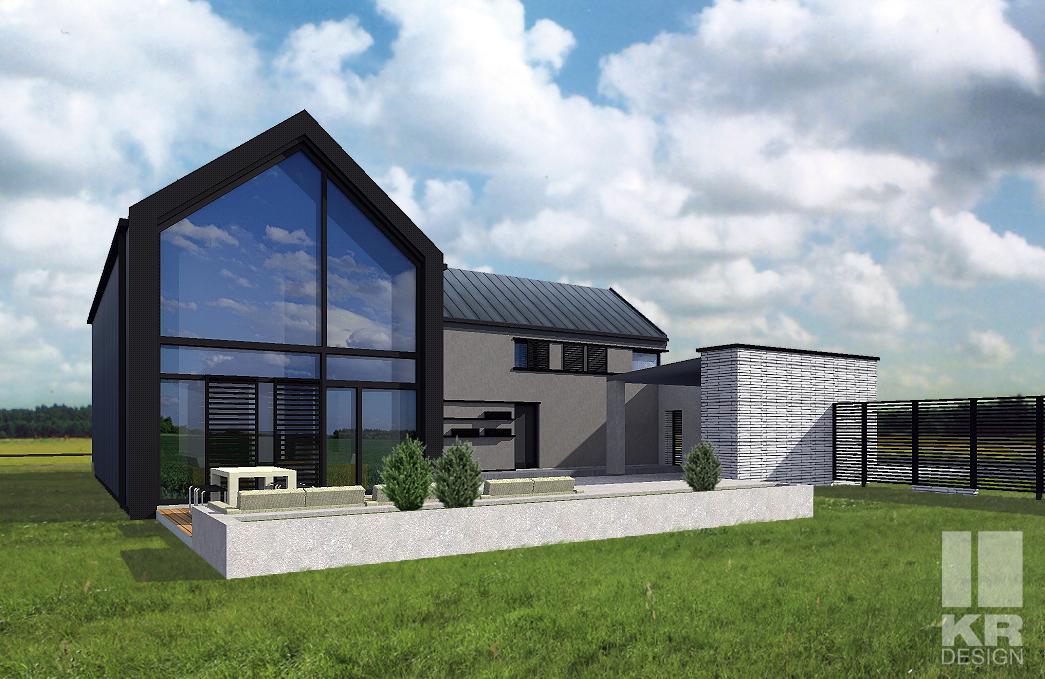 dom indywidualny, stodoła, rozbudowa, projekt na zamówienie, dom indywidualny, dobry projekt, domy jednorodzinne