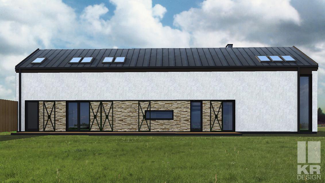 nowoczesna stodoła, projekt domu, indywidualny projekt