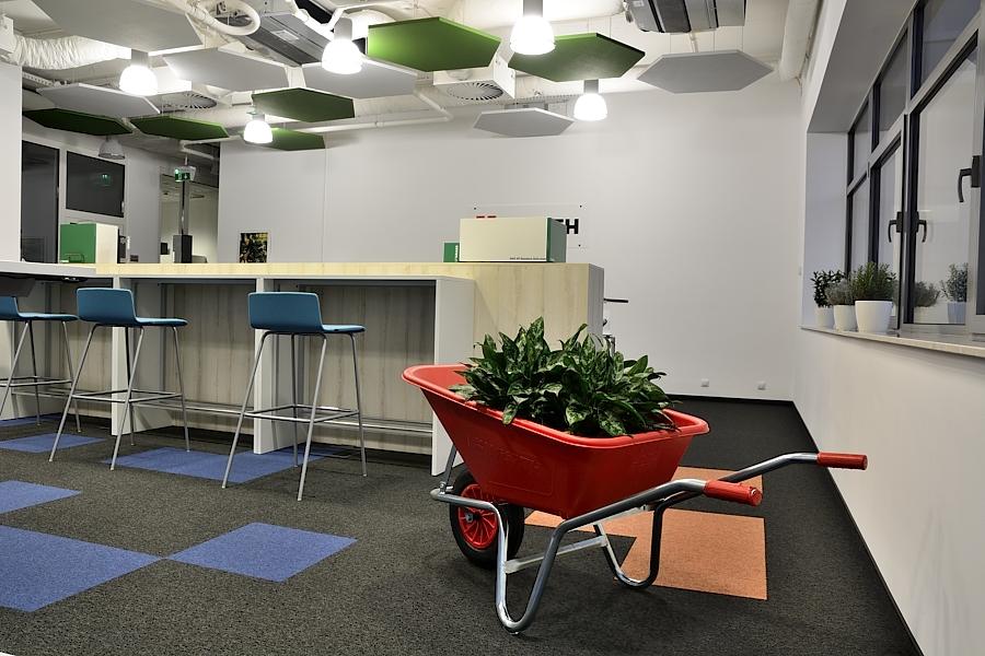 kreatywne biuro, projektowanie wnetrz, projektowanie warszawa, architekt, wystrój biura, wnętrza biurowe, biuro startup, pozytywne biuro