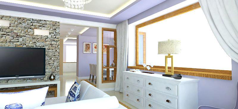 styl prowansalski, fiolety, wnetrze ciepłe, złoty dąb i wanilia