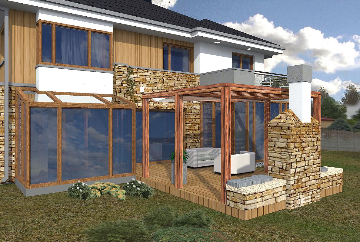 prokjekt domu, projekt elewacji, house design, taras