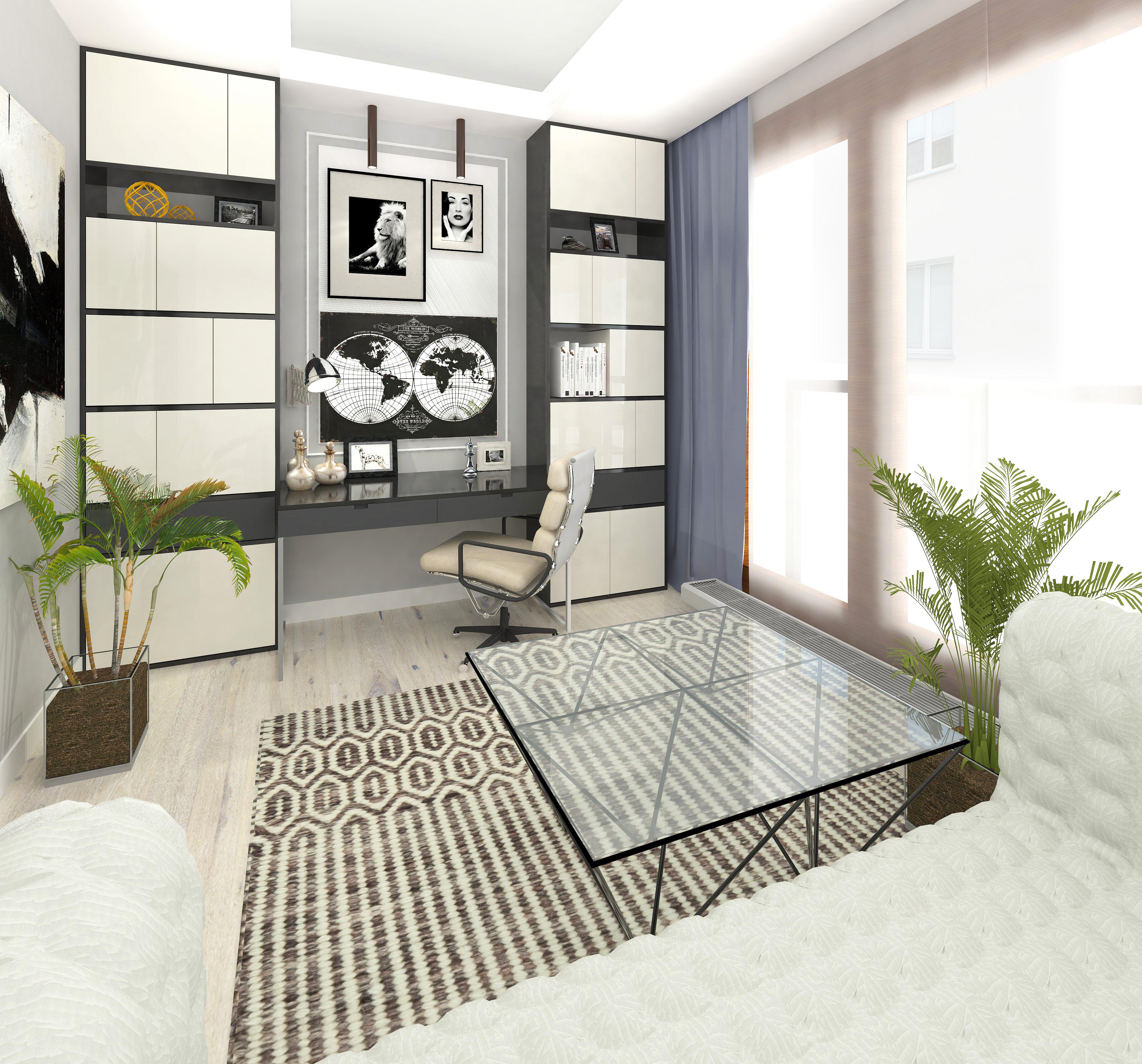 gabinet, karolina radoń, projekty wnętrz, projekty budowlane, apartamenty niemcewicza 17