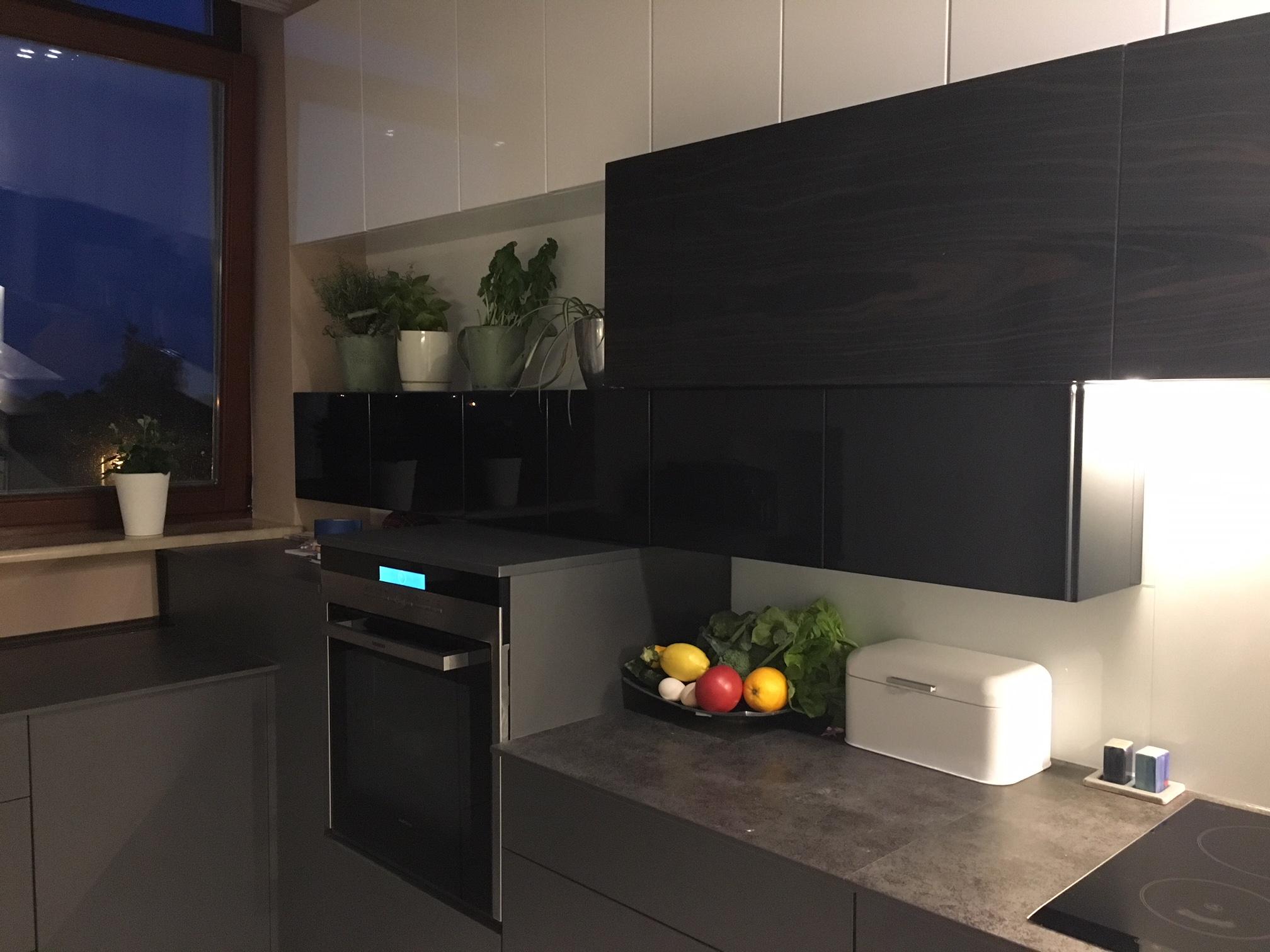 projekt kuchni- oświetlenie