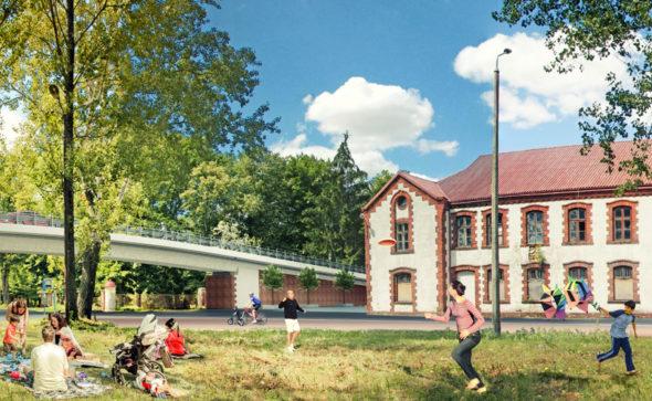 wizualizacja, konserwator zabytków, wiadukt, projekt