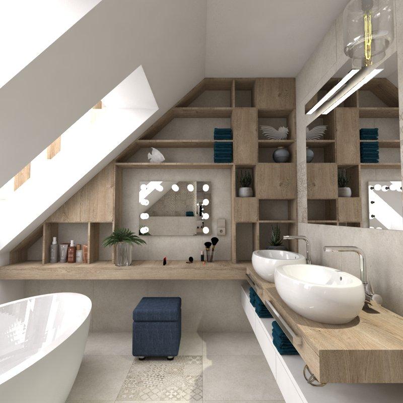 projekt łazienki na poddszu